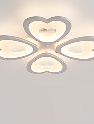 4 Heads Heart shaped Design Modern Style Acrylic Simplicity LED Ceiling Lamp Metal Flush Mount Living Room light Fixture