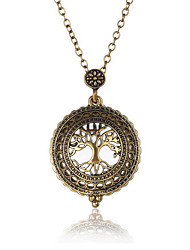 cheap -Tree of Life Shape Bohemian Basic Double Sided Multi-ways Wear Hip-Hop Adjustable Rock Punk Statement Necklace Jewelry Glass Alloy