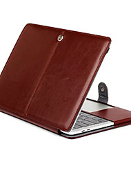 "cheap -Case for MacBook Pro 13""/15"" with Retina display Solid Color PU Leather Material Tablet Luxury Ultra Slim Magnetic Folio Stand Crazy Horse Pattern"