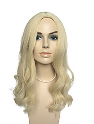 Loose Wave Wig Mid-Part Wig Long Blonde Wig Women'Party Wig Hairstyle