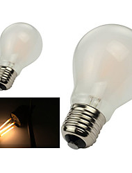 economico -e26 / e27 lampadine filettate a60 (a19) 8 cob 800lm bianco caldo 2800-3200k dimmable ac 220-240 ac 110-130v