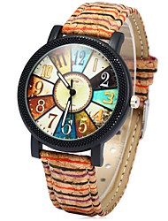 cheap -Women's Fashion Watch Wood Watch Quartz Colorful Wood Band Rainbow Multi-Colored