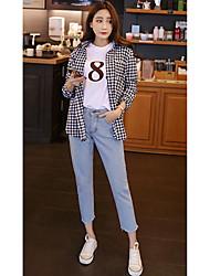 signe 2017 ressort korean bords lâches bf neuf points de jeans femme vent