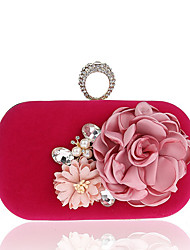 Women Bags Spring Summer Fall Winter All Seasons Polyester Evening Bag Imitation Pearl Flower for Wedding Event/Party Casual Formal