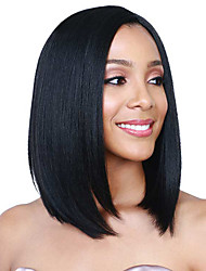 cheap -Cheap Short Black Color Synthetic Wigs For Nice Natural Looking Women Wig