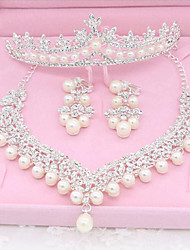 cheap -Rhinestone / Imitation Pearl Imitation Pearl Jewelry Set 1 Necklace / 1 Pair of Earrings / 1 Hair Jewelry - For Wedding / Party / Special