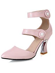 economico -Da donna Scarpe Materiali personalizzati Finta pelle Primavera Estate Autunno Innovativo Club Shoes Tacchi Quadrato Appuntite Per