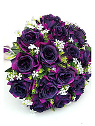 "cheap -Wedding Flowers Bouquets Wedding Party / Evening Satin 11.02""(Approx.28cm)"