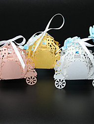 50pcs Laser cut pumpkin carriage wedding favor box candy boxsouvenirs-baby-shower gift box baby shower party supplies