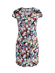 cheap -New Arrival Women's Casual / Street chic Print Plus Size / Sheath Dress