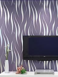 abordables -Rayure 3D Fond d'écran pour la maison Contemporain Revêtement , Intissé Matériel adhésif requis fond d'écran , Couvre Mur Chambre