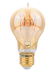 cheap -BRELONG® 1pc 4W 400 lm E27 LED Filament Bulbs A60(A19) leds SMD Decorative Warm White AC 220-240V