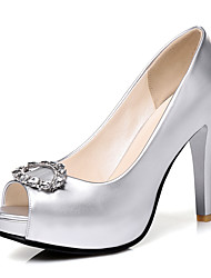 cheap -Women's Heels Spring Summer Fall Winter Club Shoes PU Wedding Party & Evening Dress Stiletto Heel Rhinestone Sliver Rose Pink Champagne