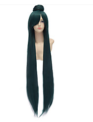 cheap -Green Cosplay Wigs Anime Sailor Moon Sailor Pluto Meiou Setsuna 110cm Long Straight Synthetic Costume Wig