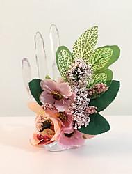 """Fleurs de mariage Noué à la main Petit bouquet de fleurs au poignet Mariage La Fête / soirée Fleur séchée 3.15""""(Env.8cm)"""