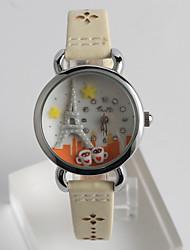 cheap -Women's Wrist Watch Casual Watch / / PU Band Casual / Fashion White / One Year / Tianqiu 377