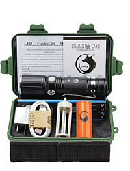 U'King LED Flashlights/Torch Flashlight Kits LED 2000 Lumens 3 Mode Cree XM-L T6 Yes Adjustable Focus Clip for Camping/Hiking/Caving