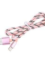 Недорогие -USB 3.0 / Подсветка Кабель 1m-1.99m / 3ft-6ft Плетение Нейлон Адаптер USB-кабеля Назначение iPad / Apple / iPhone