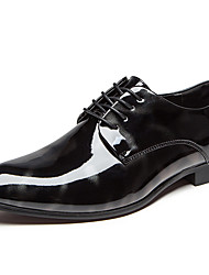 cheap -Men's Dress Shoes Patent Leather Spring / Summer / Fall Comfort Oxfords Black / Blue / Wedding / Party & Evening