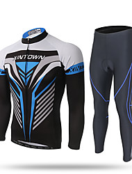 cheap -XINTOWN Men's Long Sleeves Cycling Jersey with Tights Bike Jersey Pants / Trousers Clothing Suits, Quick Dry, Ultraviolet Resistant,