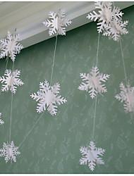 Недорогие -raylinedo® 1 шт Гирлянда белая бумага для свадьбы летию со дня рождения рождественской вечеринки девушки украшения комнаты снега формы