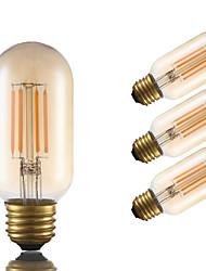 Недорогие -GMY® 4шт 3.5W 300 lm E26 LED лампы накаливания T 4 светодиоды COB Диммируемая Декоративная Янтарный 2200 К AC 110-130 V