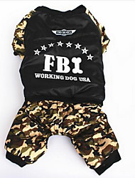 Dog Coat Dog Clothes Casual/Daily Sports Solid Camouflage Color