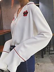 знак корейский шикарный цветок гигантский ветер был тонкий рукав белую рубашку