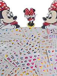 cheap -1set 77pcs Mixed Lovely&Colorful Cartoon Image Expression Mickey Design Nail Art Watermark Sticker Water Transfer Decals Nail Decoration