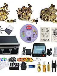 economico -BaseKey Macchina del tatuaggio Kit tatuaggio professionale - 3 pcs Macchinette per Tatuaggio  Alimentazione LED Confezione inclusa 3 x Tattoo Machine in lega per il rivestimento e l'ombreggiatura