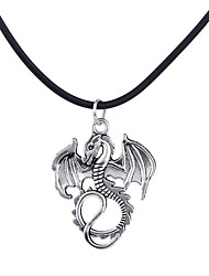cheap -Men's / Women's Logo Pendant Necklace - Dragon, Animal Unique Design, Dangling Style Silver, Bronze Necklace Jewelry For