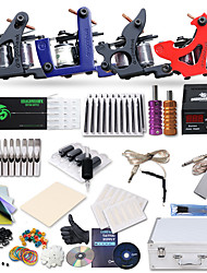 cheap -Dragonhawk® Professional Tattoo Kit 4 Cast Iron Tattoo  Machine Liner&Shader Power Supply Complete Kit