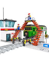 Недорогие -AUSINI Конструкторы 517 pcs Шлейф Cool Оригинальные Электрический Поезд Поезда и наборы железной дороги Мальчики Игрушки Подарок