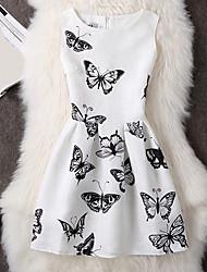 New spring and summer women's European Grand Prix printing vest bottoming tutu dress sleeveless summer dress a woman