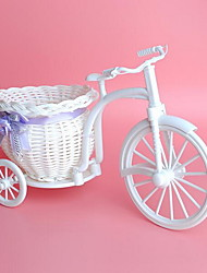 cheap -Tricycle Shape Tabletop Artificial Large Plastic Flowers Basket