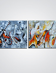 Stretched Canvas Print Abstract Still Life Modern,Two Panels Canvas Horizontal Print Wall Decor For Home Decoration