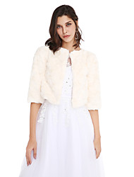 cheap -Faux Fur Wedding Party Evening Women's Wrap Coats / Jackets