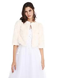 Faux Fur Wedding Party Evening Women's Wrap Coats / Jackets