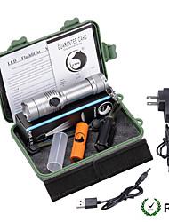 U'King LED Flashlights/Torch Flashlight Kits LED 2000 Lumens 3 Mode Cree XM-L T6 Yes Adjustable Focus Nonslip grip for
