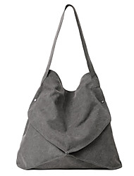 cheap -Women's Bags Canvas Shoulder Bag for Casual Outdoor Spring Summer Black Beige Gray Brown
