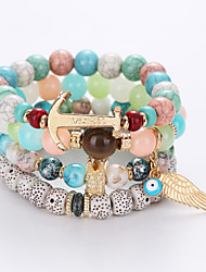 cheap -Strand Bracelet Multi Layer Fashion Beaded Resin Alloy Others Jewelry Christmas Gifts Anniversary Birthday Engagement Gift Valentine