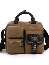 Unissex Bolsas Todas as Estações Couro Ecológico Lona Messenger Bag Metálico para Casual Esportes Uso Profissional Preto Cinzento Café