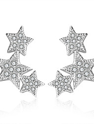 925 Sterling Silver Necklace AAA Cubic Zirconia Stud Earrings Jewelry Star Party Daily Casual Sterling Silver 1 pair Silver