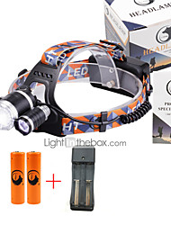 cheap -U'King Headlamps Headlight LED 3000 lm 4 3 Mode Cree XM-L T6 with Batteries and Charger Zoomable Adjustable Focus Compact Size Easy