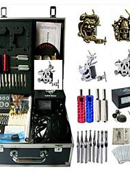 Недорогие -BaseKey Татуировочная машина Профессиональный комплект для татуировки - 4 pcs татуировки машины, Для профессионалов Алюминиевый сплав 19 W Aналоговый источник питания Чехол в комплекте 2