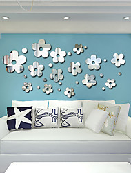 1 PC Mirrors Shapes Abstract Wall Stickers Crystal Wall Stickers Mirror Wall Stickers Decorative Wall StickersVinyl Material Home Decoration