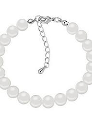 Damen Ketten- & Glieder-Armbänder Natur Perle Kreisform Kreuzform Schmuck Für