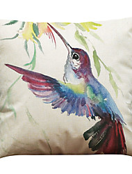 "cheap -Set of 6 Ink Bird Pattern Linen Cushion Cover Home Office Sofa SquareDecorative (18""*18"")"