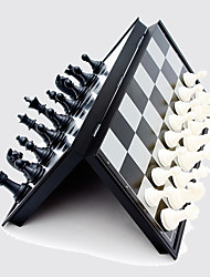 cheap -Chess Magnetic Black And White Piece Folding Chessboard Board Game Leisure Hobby Toys  For Adult And Children Competition And Training