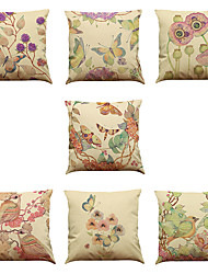 cheap -Set of 7 Hand-painted vine Linen  Cushion Cover Home Office Sofa Square  Pillow Case Decorative Cushion Covers Pillowcases